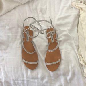 Steve Madden wrap sandals.